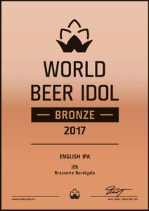 IPA Burdigala Medaille de Bronze World Beer Idol 2017